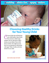 a child choses a healthy drink