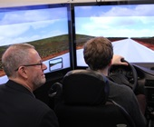 Driving simulator in CAMH's Institute for Mental Health Policy Research