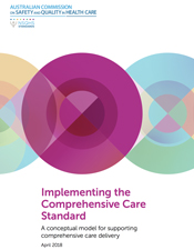 Cover of the Implementing the 'Comprehensive Care Standard' publication.