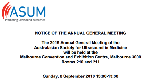 ASUM AGM Notice