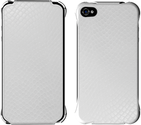 Excess inventory - iPhone white leather flip case