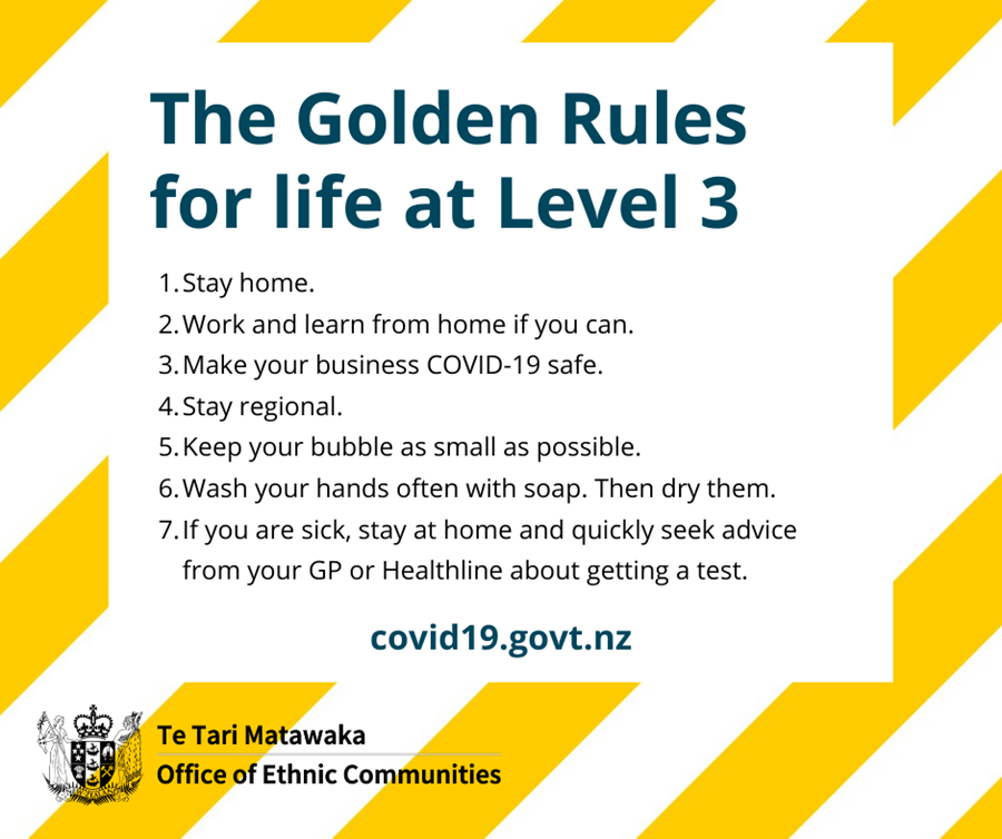 Image of the golden rules for life at level 3