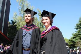 Sigrid Wilson at graduation