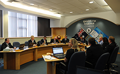 Budget meeting in Council chambers