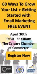 Ad: Conscious Commerce Constant Contact workshop
