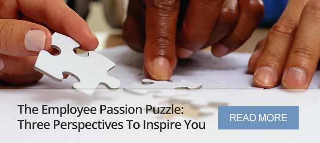 THE EMPLOYEE PASSION PUZZLE: THREE PERSPECTIVES TO INSPIRE YOU