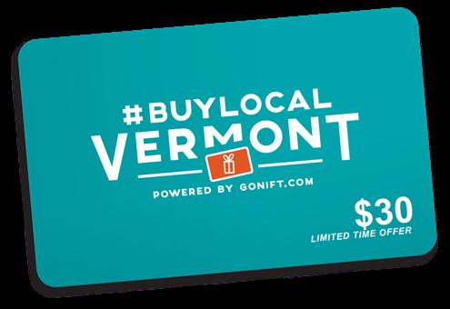 #BuyLocalVermont Gift Cards