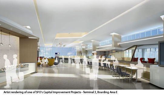Artist Rendering of Terminal 3, Boarding Area E