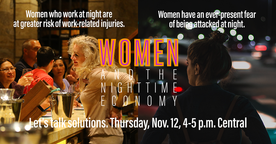 What can we do to better respond to the needs and challenges faced by women who work or socialize at night?