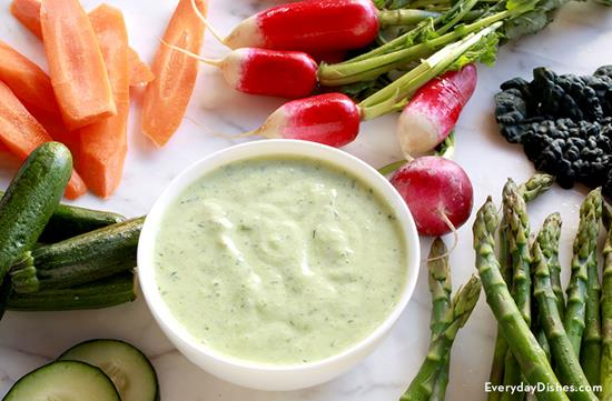 Cucumber Dill Dip and Crudité