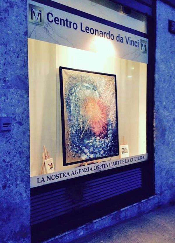 foto della vetrina del Centro Leonardo da Vinci