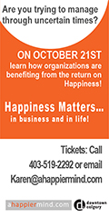 Ad: Positive Mindset Strategist - Happiness matters in business and in life event