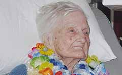 Photo of centenarian Stella Soppa