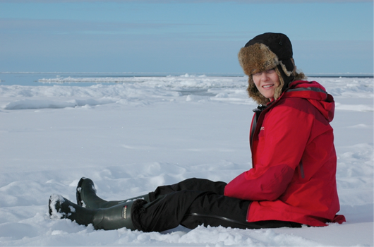 Dr. Allison Crawford outdoors in Nunavut
