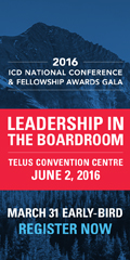 Ad: ICD National Conference and Fellowship Awards Gala