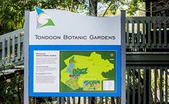 Tondoon Botanic Gardens sign