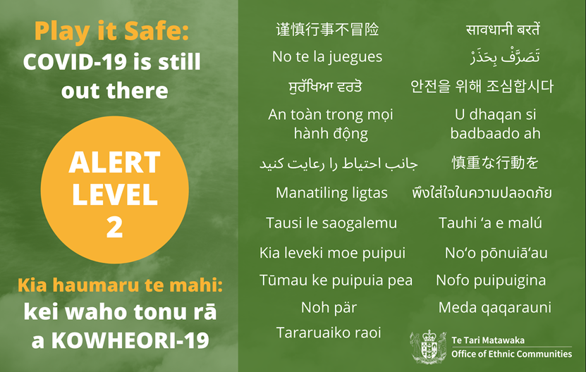 Play it safe: COVID-19 is still out there. - Alert Level 2
