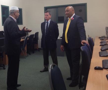 Image Left to right Dr Anwar Ghani, Hon Christopher Finlayson, Hon Peseta Sam Lotu-Iiga