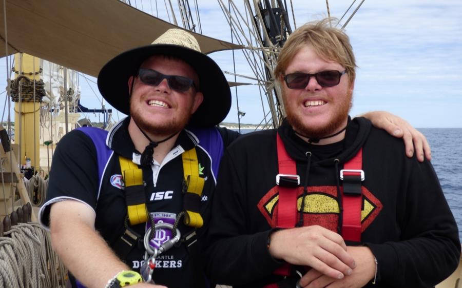 Nick and Tyler on the Leeuwin II
