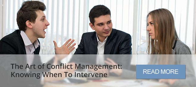 The Art of Conflict Management: Knowing When To Intervene