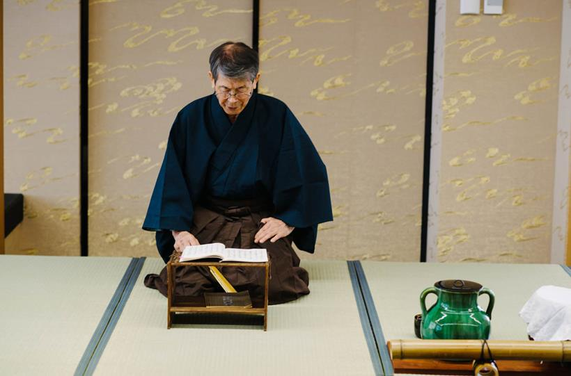 Professor Shigeru Yura, who donated his architectural sketchbooks to the University. Photo: Paul Philipson.
