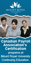 Mount Royal University Certified Payroll Management