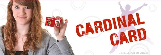 image of student holding cardinal card