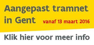 Tramnet Gent vanaf 13 maart 2016