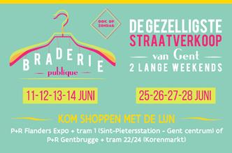2 lange weekends braderie in Gent