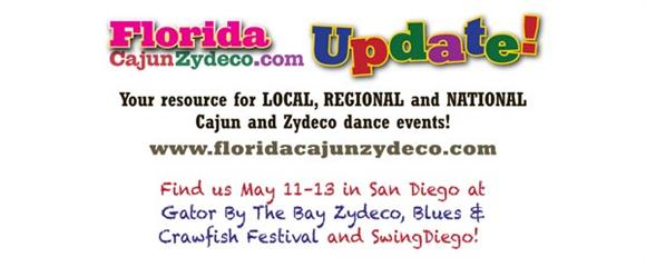Florida Cajun Zydeco.com Update!, your resource for LOCAL, REGIONAL and NATIONAL Cajun and Zydeco dance events!