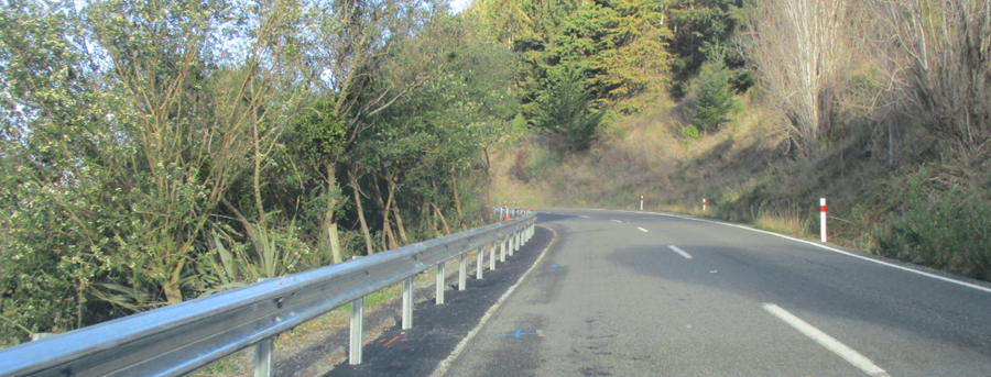 New safety barriers on Dyers Pass Road