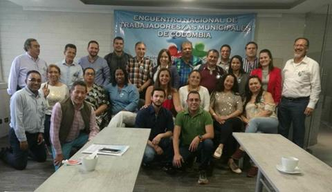 Organizaciones laborales municipales de Colombia se constituyen en Red Nacional