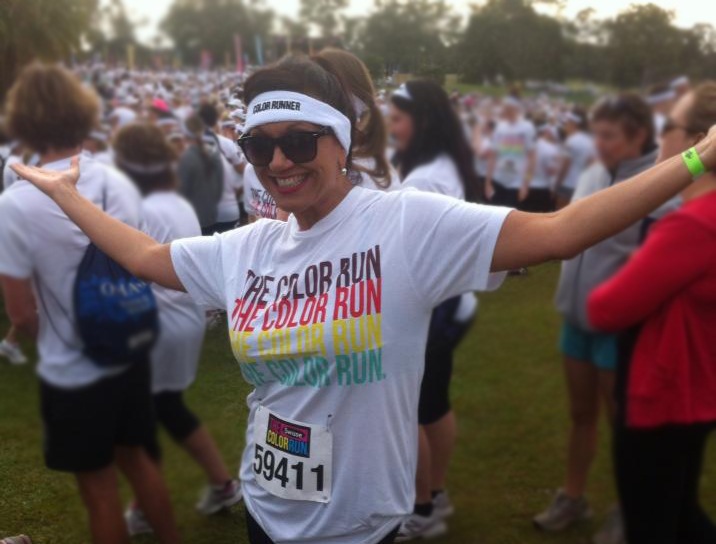 Anita about to do the Color Run