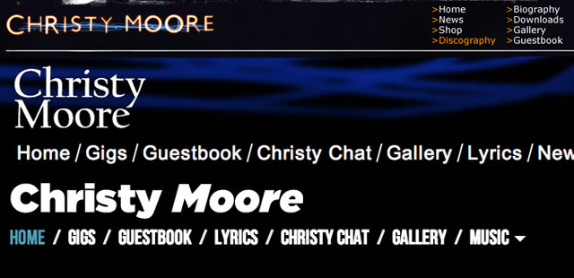 Christy Moore goes device friendly
