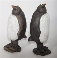 Alex Johannsen -  Penguin in raku fired ceramic