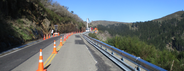 Retaining walls going in on Dyers Pass Road.