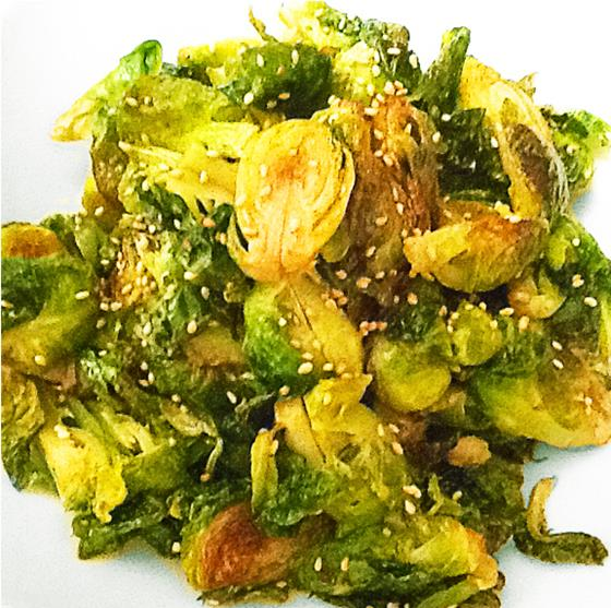 Crisp Brussels Sprouts With Soy Sauce & Benimosu Vinegar