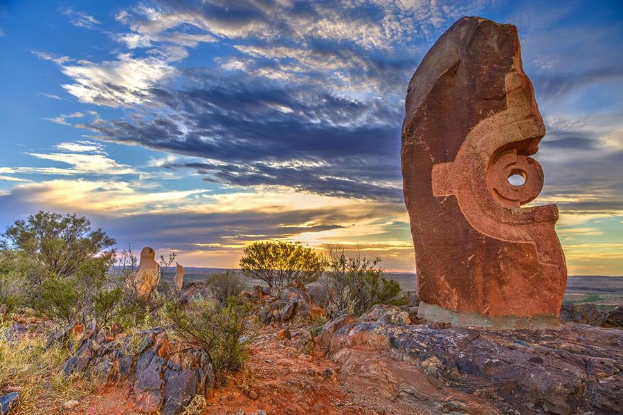 Photo by competition winner, Dale Ketteringham: The Living Desert Sculpture, Broken Hill.