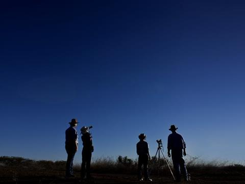 Guests enjoying the Outback Astronomy experience