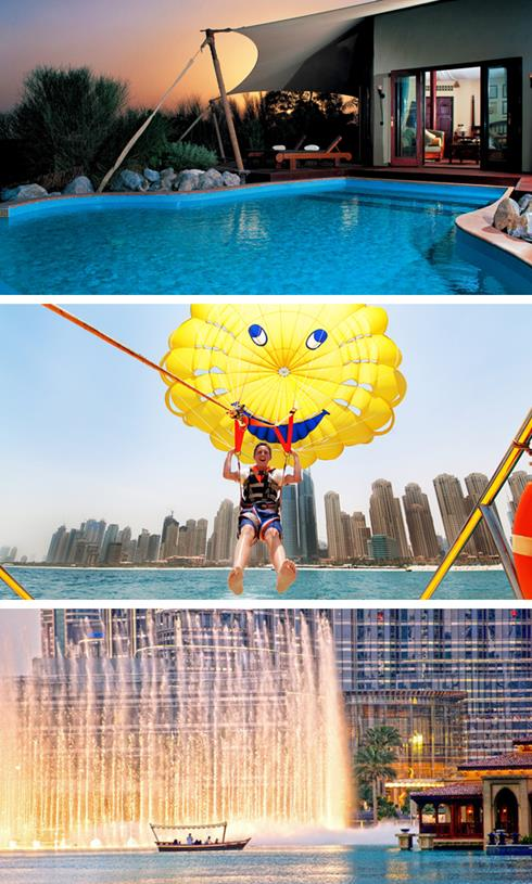 Al Maha, Watersports and Dubai Fountain