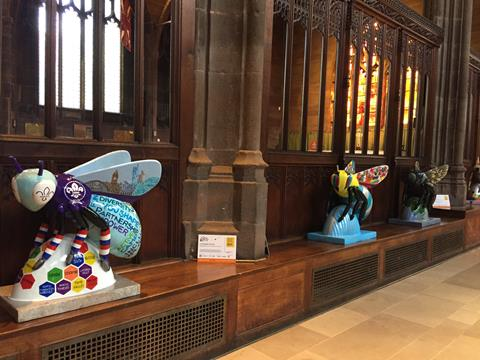 Bee sculptures in the Cathedral