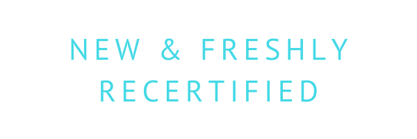 New and Freshly Recertified