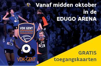 Gratis toegangskaarten VDK Volley in Edugo Arena