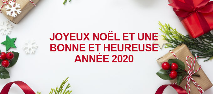 Joyeux Noël et une bonne et heureuse année 2020