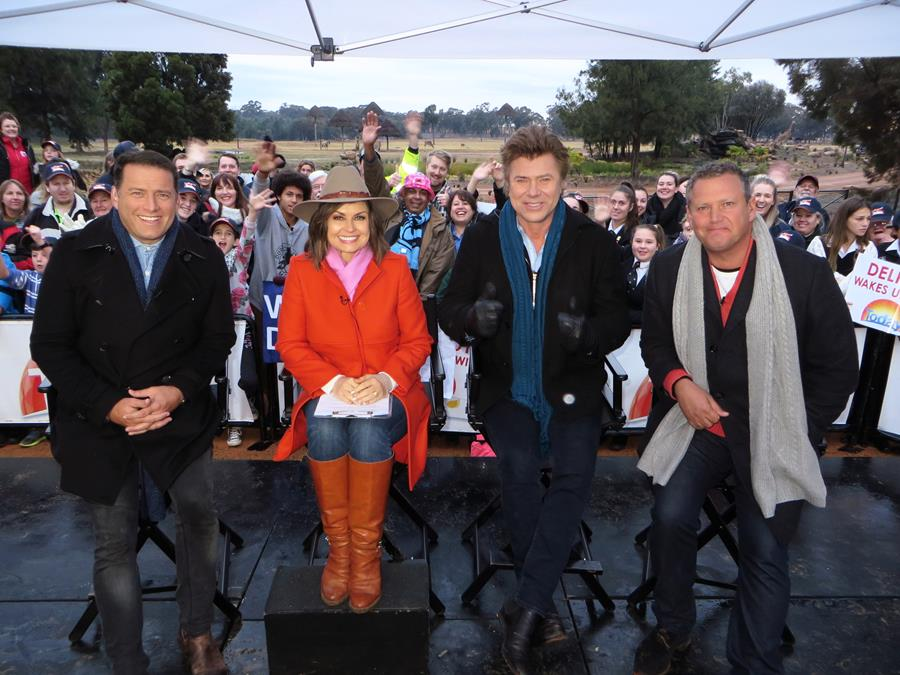 The Today Show crew presenting live from Dubbo.
