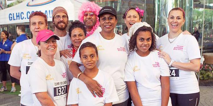 Team Amanda at Climb for Cancer event in Brisbane