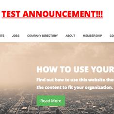 Test Announcement Example Screenshot