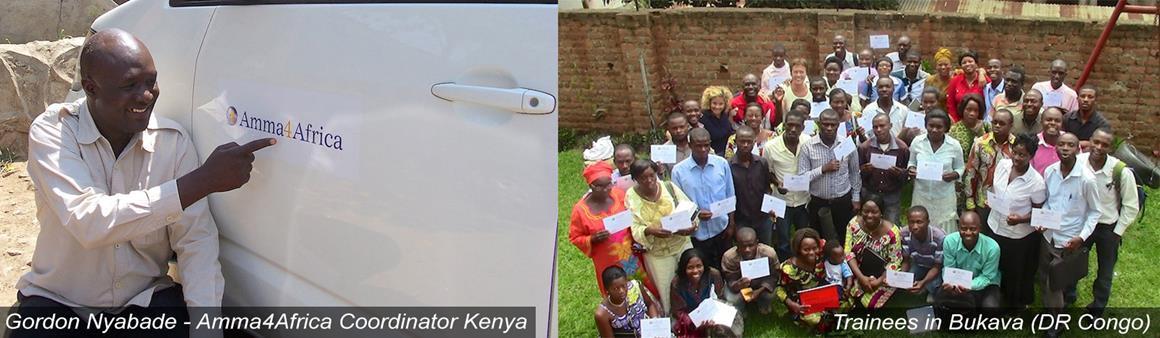 Gordon Nyabade and Trainees in Bukava