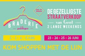 Braderie Gent 2 tot 5 juni en 23 tot 26 juni