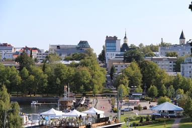 Lappeenrannan kaupunki linnoituksesta kuvattuna